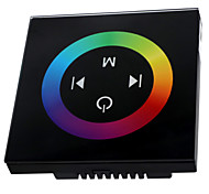 HKV® 1 Pcs TM08 Wireless Touch Panel RF RGB Controller LED Dimmer Remote Control for  Led Strip Lights DC 12-24V