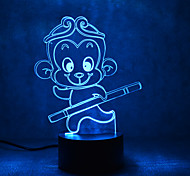 Christmas Monkey Touch Dimming 3D LED Night Light 7Colorful Decoration Atmosphere Lamp Novelty Lighting Christmas Light