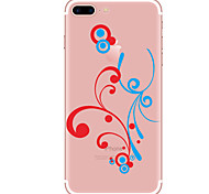 Per Custodie cover Transparente Fantasia/disegno Custodia posteriore Custodia Fiore decorativo Morbido TPU per AppleiPhone 7 Plus iPhone
