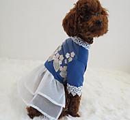 Собака Платья Одежда для собакДля вечеринки Праздник ковбой На каждый день Косплей День рождения Мода Свадьба Спорт Рождество Новый год