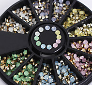 1 box Bottom of The Three-Dimensional Color Diamond Decoration 2.5mm Opal Nail Art Deco Wheel