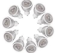 3W Точечное LED освещение MR16 3 Высокомощный LED 260-300 lm Тёплый белый Белый Диммируемая AC 220-240 V 10 шт.