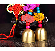 Bag / Phone / Keychain Charm Jingle Bell Cartoon Toy Chinese Style Wooden Metal