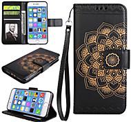 Случай для яблока iphone 7 7 плюс iphone 6s 6 плюс крышка случая мандала pu кожаные аргументы за iphone 5s 5 se