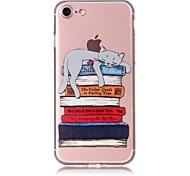 Case for iphone 7 7plus case cover book cat pattern tpu материал устойчивый к царапинам корпус телефона для iphone 6s 6 6plus 6s плюс 5 5s