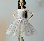 Принцесса Платья Платья Для Кукла Барби Платья Для Девичий игрушки куклы