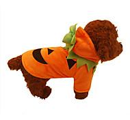 Собака Плащи Одежда для собак Хэллоуин Тыква Оранжевый