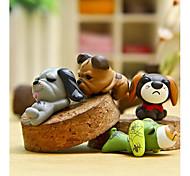 4pcs мешок / телефон / брелок шарм DIY собака смола ремесла мультфильм игрушка смолы