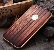 iphone 7 плюс роскошный металлический каркас дерева обратно комбо телефон случае для Iphone 6 плюс / 6с плюс