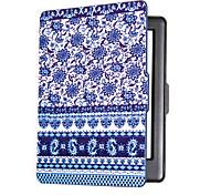 смарт напечатанный защитный чехол кожаный чехол для кобо Glo HD (2015) синий и белый фарфор читалка электронных книг случай
