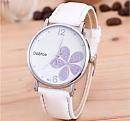Муж. Жен. Модные часы Наручные часы Уникальный творческий часы Китайский Кварцевый PU Группа Цветы Черный Белый Красный Коричневый