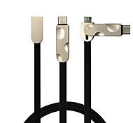 2 в 1 usb2.0 плоский кабель для samsung huawei sony nokia htc motorola lg lenovo xiaomi 100 cm pvc