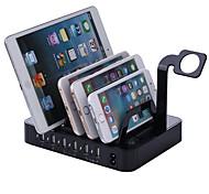 Зарядное устройство USB 6 портов Настольная зарядная станция С коммутатором (а) Подставка для стойки Адаптер зарядки