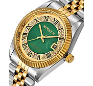 Муж. Жен. Модные часы Имитационная Четырехугольник Часы Часы со стразами Японский Кварцевый Календарь Защита от влаги Панк Крупный