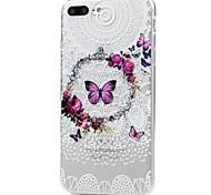для случая крышка картины задней крышки случая бабочка кружева печати мягкая tpu для яблока iphone x iphone 8 плюс iphone 8 iphone 7 плюс