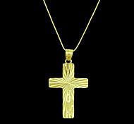 Муж. Кулоны Крестообразной формы Позолота Металл бижутерия Бижутерия Назначение Повседневные