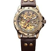 Муж. Детские Армейские часы Часы со скелетом Механические часы Японский С автоподзаводом Календарь Секундомер Защита от влаги С