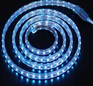 2m 220v Higt яркие светодиодные полосы света гибкие 5050 120smd три кристаллические водонепроницаемый свет бар света сада с штепсельной