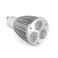Focos LED GU10 6 W 3 LED de Alta Potencia 520 LM Blanco Cálido / Blanco Fresco / Blanco Natural AC 85-265 V