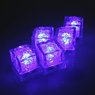 diamant Ice Cube formade lila LED-ljus (12-pack)