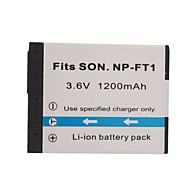1200mAh 3.6V Digital Camera Battery NP-FT1 for SONY DSC-L1 and More