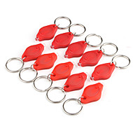 1400mcd LED Flashlight Keychain - Red Light (10-Pack)