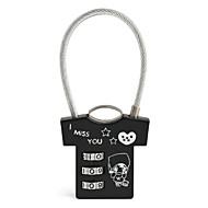 Cute T Shirt Shaped Mini 3 Digits Number Lock Padlock