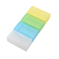 Water-proof Translucent Plastic Case for 18650,16340 Battery(4 Pack,Random Color)