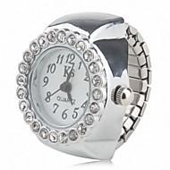 Női Divatos óra Szimulált Gyémánt Karóra Japán Kvarc Zenekar Szikra Ezüst