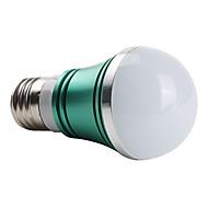 Ampoules Globe Vert A E26/E27 W 3 LED Haute Puissance 270 LM K AC 85-265 V