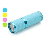 portatif 1-mode 9 LED Flashlight (3xAAA, couleurs assorties)