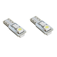 T5 2 * 1210 SMD valkoinen LED auton merkkivalot (2-pack, DC 12V)