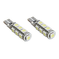 T10 13 * 5050 SMD weiße LED canbus Auto Signalleuchten (2-Pack, DC 12V)