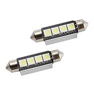 42 millimetri 1.5W 80lm 4x5050 SMD luce bianca lampadina a led per interni auto canbus lampade (2-pack, DC 12V)