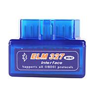 Super Mini ELM327 Bluetooth OBD2 V1.5 Car Diagnostic Interface Tool - Blue