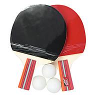 table de Kansa raquette de tennis Penhold adhérence, ping-pong paddle (2-pack, 3 balles inclus)