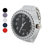 Women's Classic Diamond Style Alloy Analog Quartz Ring Watch (Assorted Colors)