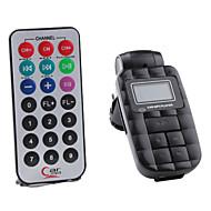 4-in-1 Water Cube-Stil Auto MP3-Player FM-Transmitter mit Fernbedienung (USB / SD / MMC-Karte, schwarz)