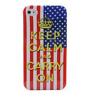 USA flag mantenere la calma e portare sul design per iPhone 4 e 4s (multi-colore)