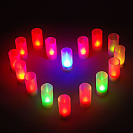 Sound Control farveskiftende LED Candle Lamper til Wedding Party Gaver (8-Pack)