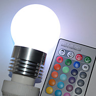 E26/E27 5 W 5 High Power LED 450 LM RGB/Color-Changing G Remote-Controlled Globe Bulbs AC 100-240 V