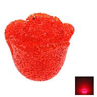 Novedad Rose Style Crystal Red Light Lámpara LED Night (3xLR44)