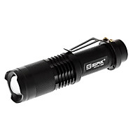 LED Flashlights/Torch / Handheld Flashlights/Torch LED 5 Mode Lumens Adjustable Focus Cree XM-L T6 18650 Sipik , Black Aluminum alloy