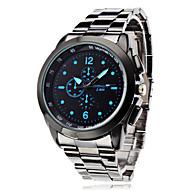orologio di stile di affari lega d'argento del quarzo del polso degli uomini (colori assortiti)