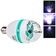 E26/E27 3W 3 High Power LED 270 LM RGB Sound-Activated LED Globe Bulbs AC 85-265 V