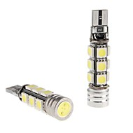 CANBUS T10 1.5W 12x5050 SMD Bianco Lampadina LED per la lettura auto / Side Marker / Dashboard Light (12V, 2-pack)