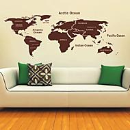 Mappa di Wall Stickers del Mondo