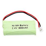 2.4V 800 mAh recarregável AAA bateria Ni-MH com PH Porto