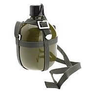 Utendørs Aluminum Military vannflaske med skulderstropp (Army Green, 1.5L)