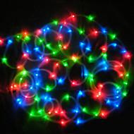Solar 12M 100-LED Colorful Light Waterproof LED Strip Tube Rope Lamp